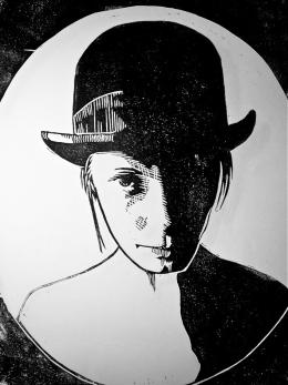 woodcut portrait